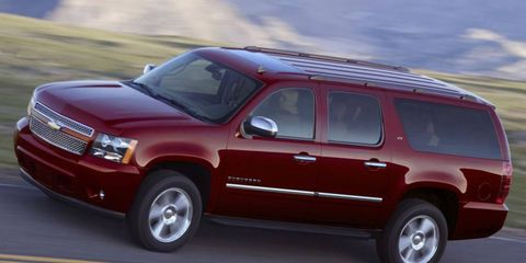 The 5.3-liter V8 in the 2011 Chevrolet Suburban LTZ is rated at 320 hp.