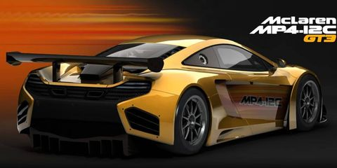 The McLaren MP4-12C is included in the Simraceway game.