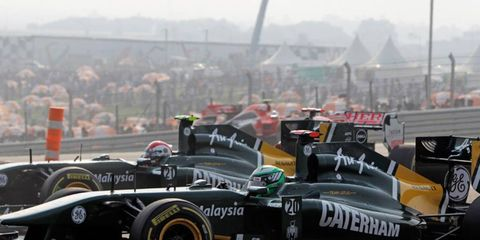 In 2012, the Lotus Formula One team will be named Caterham.