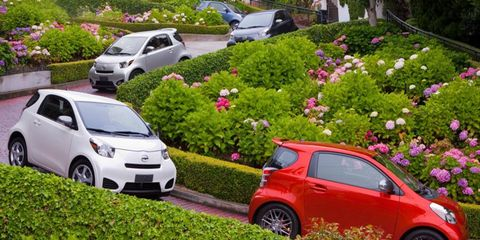 The four-cylinder engine in the Scion iQ is rated at 94 hp.