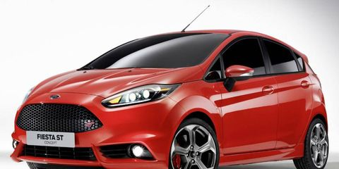 The Ford Fiesta ST concept packs a turbocharged 1.6-liter four-cylinder engine rated at 177 hp.