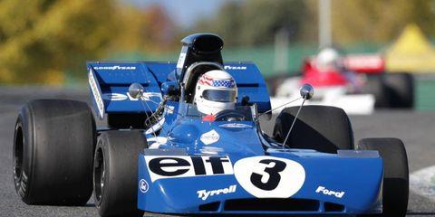 John Delane campaigned his Tyrrell 002 in the Historic F1 Championship.