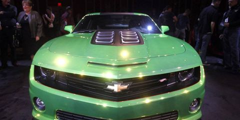 The Chevrolet Camaro Hot Wheels concept at the 2011 SEMA show re-creates one of the original toy-car designs from 1968.