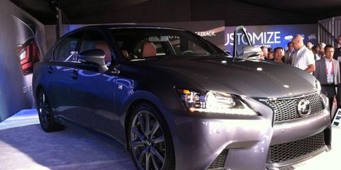 The V6 in the Lexus GS 350 F Sport is rated at 306 hp.