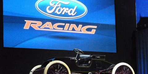 """The 1901 Ford """"Sweepstakes"""" race car."""