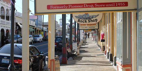 Main Street in Virginia City, Nev., a stop on the Autoweek America Adventure.