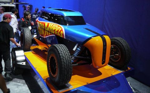 The Rip Rod was built last year by Hot Wheels and is powered by a 1.0-liter Ford Ecoboost. At SEMA it sat on a trailer pulled by the Hot Wheels Transit Connect.