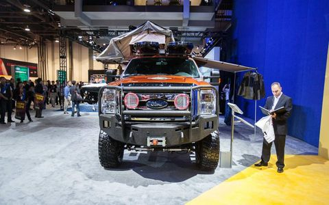 The EcoTrek F-350 might be the most useful vehicle we ran across at SEMA.