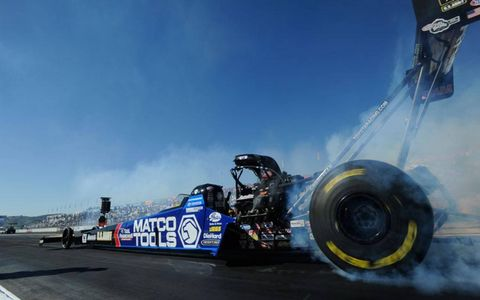 Antron Brown captured his first season championship in NHRA Top Fuel