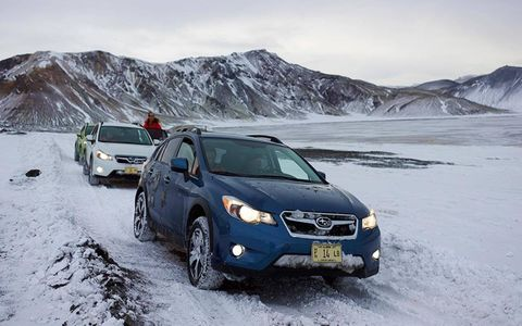 The 2014 Subaru XV Crosstrek Hybrid is capable to handle anything from mud and snow.