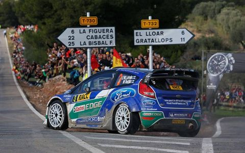 Jari-Matti Latvala nearly pulled off the victory in Spain on Sunday, falling to winner Sebastien Loeb by just seven seconds.