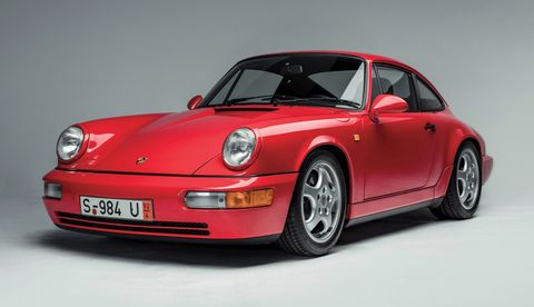 The 911 Carrera RS made its debut in 1992 as the road-going version of Porsche's Carrera Cup race car.