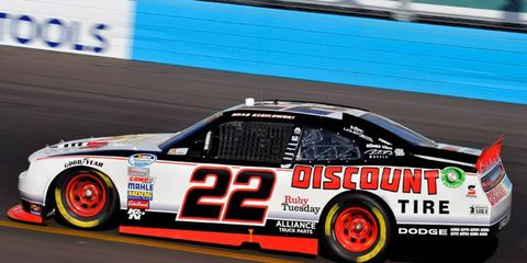 Brad Keselowski was fastest in Nationwide Series practice on Friday.