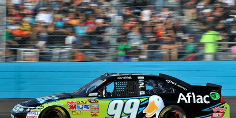 Carl Edwards's only path to the 2011 Sprint Cup is with a win in Sunday's race.