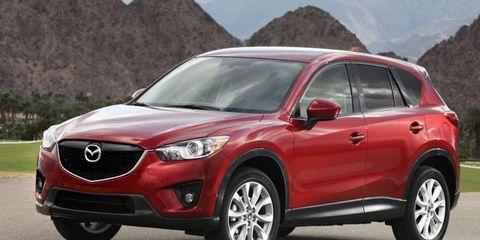The Mazda CX-5 uses the automaker's new Kodo design language.