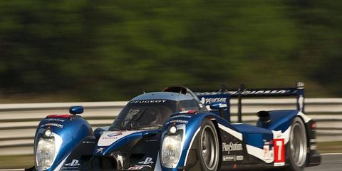 Peugeot driver Anthony Davidson claimed pole position for this season's Intercontinental Le Mans Cup finale at Zhuhai in China.