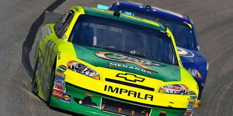 Paul Menard led the speed charts in NASCAR practice in Phoenix on Friday.