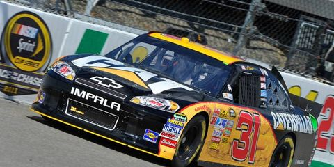 Jeff Burton leads in Sprint Cup practice sessions today; photo from Virginia International Raceway.