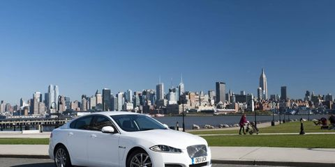 A diesel-powered Jaguar XF is making its way from New York to Los Angeles to test out fuel efficiency.