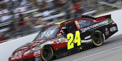 """""""It's important for the track and NASCAR to work together to create a second groove,"""" said four-time series champion Jeff Gordon (shown), who won at Phoenix in the spring."""