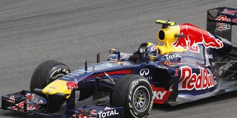 Mark Webber ended the 2011 Formula One season with a win at the Brazilian Grand Prix on Sunday.
