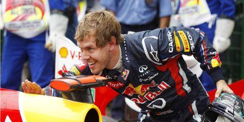 Sebastian Vettel won 15 poles in the 2011 Formula One season.