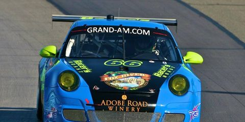 Andy Lally drove in the Grand-Am race at Watkins Glen in 2011.
