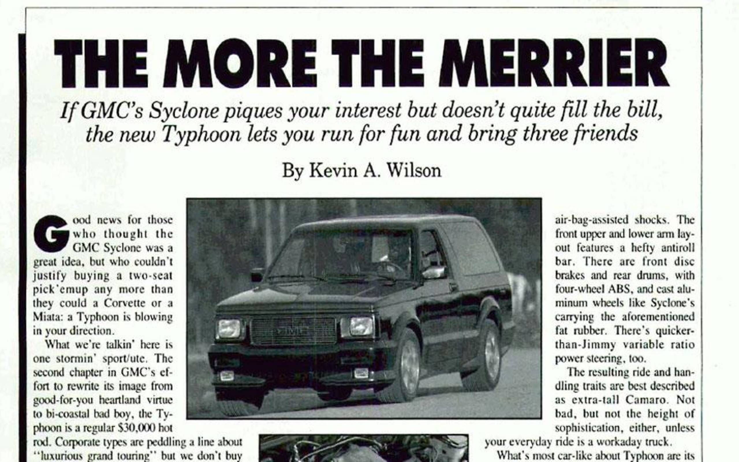 Autoweek Archives 1992 Gmc Typhoon