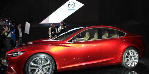 The Mazda Takeri concept previews the next-generation Mazda 6 sedan.