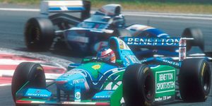 Michael Schumacher's 1994 Benetton Formula One car has been suspected of having illegal electronic aids.