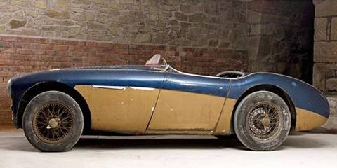 The Austin Healey 100 from the 1955 24 Hours of Le Mans.