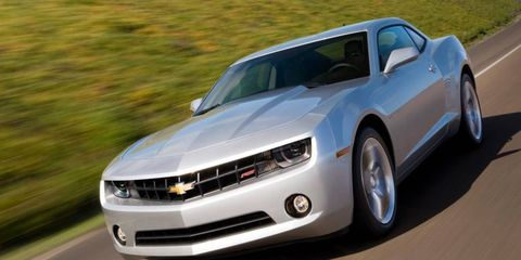 The Chevy Camaro has a healthy lead over the Ford Mustang in the sales race.