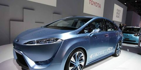 Toyota showed its FCV-R, short for Fuel Cell Vehicle - Reality at the Tokyo Motor Show this week.