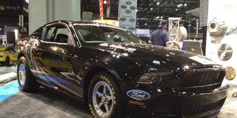 Ford will build only 50 copies of the 2013 Mustang Cobra Jet race car.