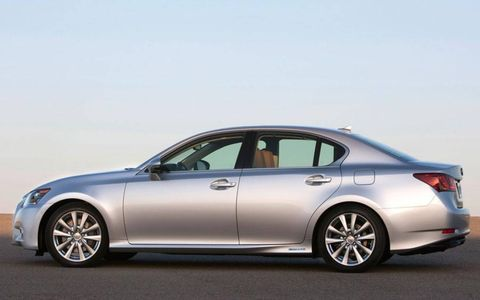 At times, the ride of the 2013 Lexus GS 450h felt heavy--likely because, as a hybrid, the car was packing some additional weight.