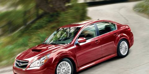 The Legacy is one of three Subaru models that has brake-pedal issues.