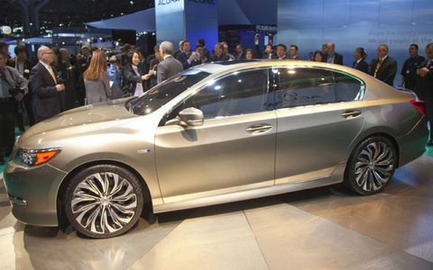 A concept version of the Acura RLX sedan debuted at the New York auto show. The production version debuts at the Los Angeles show in late November.