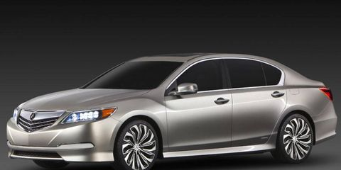 The 2014 Acura RLX goes on sale in spring 2013.