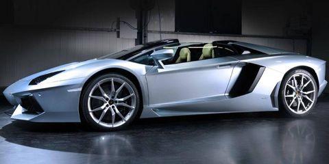 The Lamborghini Aventador roadster follows the one-off Aventador J, which debuted at the 2012 Geneva motor show.
