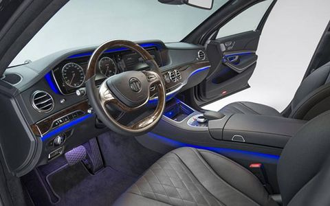 The interior is what you're used to seeing in the Mercedes-Benz, save for a few small details. And the fact that it's eerily quiet.