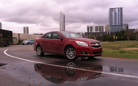The 2013 Chevy Malibu Eco gets a 15-hp boost from the electric motor