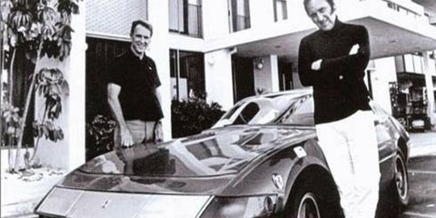 Brock Yates and Dan Gurney in the Cannonball