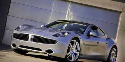 Starting price for the Fisker Karma, shown, has reportedly jumped to $102,950.