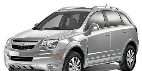 The Chevrolet Captiva is sold for fleet use in the United States.
