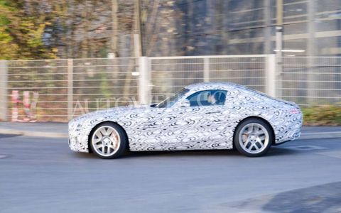The Mercedes-Benz GT AMG will use a 4.0-liter V8 for power.