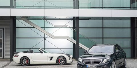 Mercedes S65 AMG and SLS AMG Final Edition ahead of Los Angeles Auto Show.