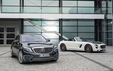 Mercedes S65 AMG and SLS AMG Final Edition ahead of Tokyo Motor Show debut.