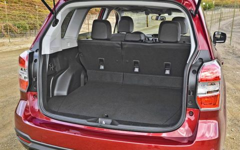The 2014 Subaru Forester shows off its luggage capacity.