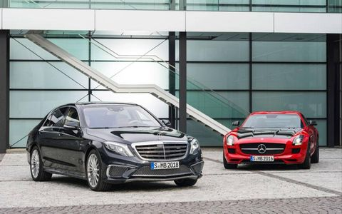 Mercedes SLS AMG Final Edition and S65 AMG before LA and Tokyo show debuts.