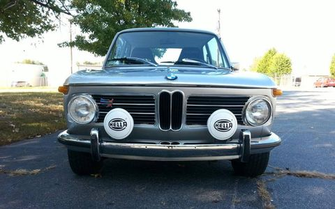 This 1972 BMW 2002tii is for sale at Korman through Bring a Trailer.